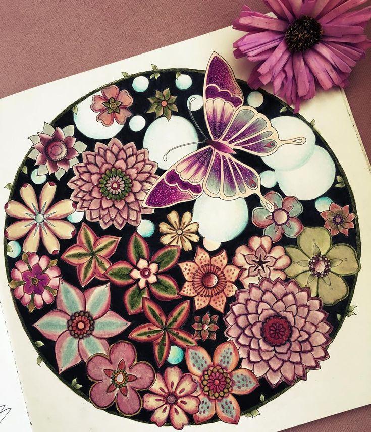 Adult Coloring Books New Johanna Basford Secret Gardens Pencil Art Crayon Colored Pencils Jungles From Instagram