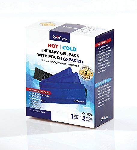 RawTech 2 Flexible Gel Ice Pack  1 Wrap with Elastic Velcro Straps for Hot  Cold Therapy  Great for Sprains Muscle Pain Bruises Injuries Etc Neck Shoulder Arm Elbow Knee Ankle >>> Check out the image by visiting the link.