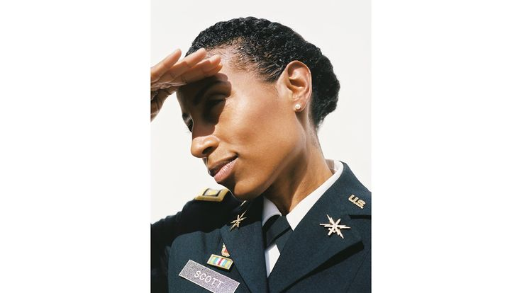 """Major Tennille Woods Scott, U.S. Army  Woods Scott has adapted her beauty regime under some pretty adverse conditions during her 12 years of military service. """"In Iraq, I would relax my own hair every eight weeks, which was quite dangerous,"""" says Woods Scott, who served in the region in 2007 and 2008. """"In the hour or so that it took, I was nervous, thinking, What if a rocket or mortar comes in?"""" When she eventually decided to ditch her chemical straightening kits, she inspired members of her…"""