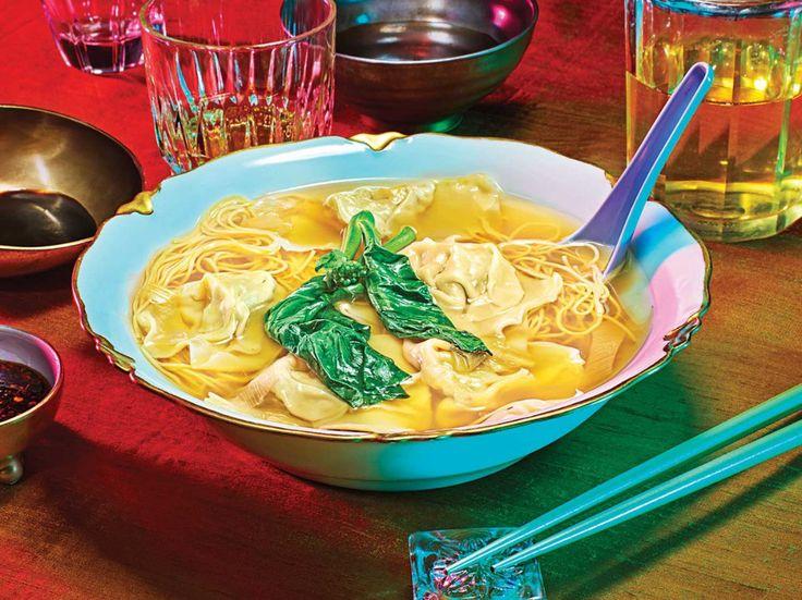 cantonese wonton noodle soup  wonton noodle soup wonton