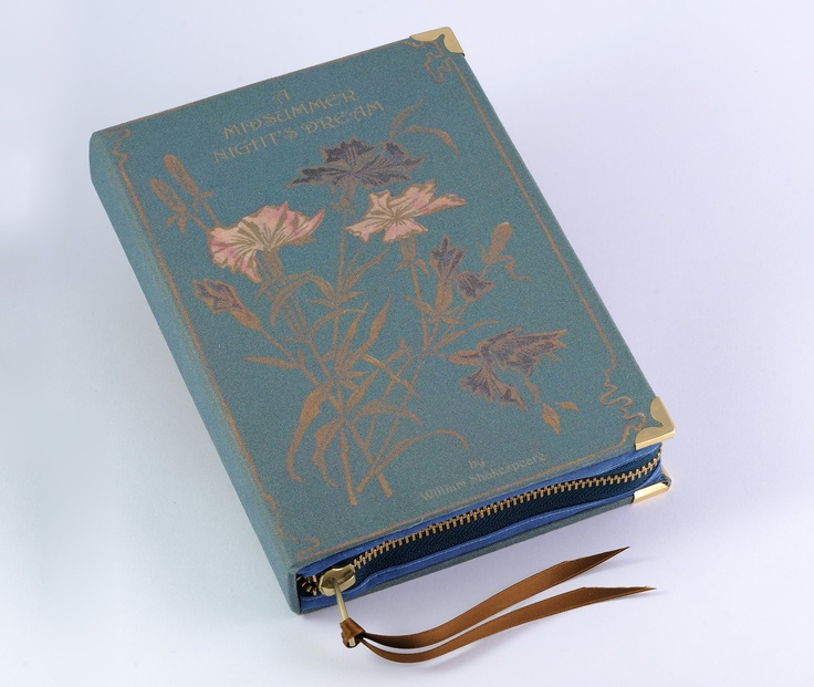 William Shakespeare Midsummer's Night Dream Book Clutch, by Etsy artist psBesitos (no books are harmed in the making of these purses.)