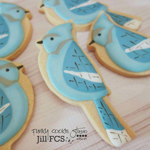 Blue jay cookies