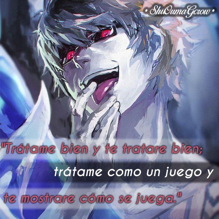 Trátame bien. #ShuOumaGcrow #Anime #Frases_anime #frases