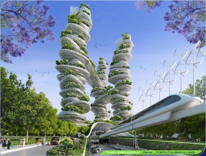 "Gallery of Vincent Callebaut's 2050 Vision of Paris as a ""Smart City"" – 14"