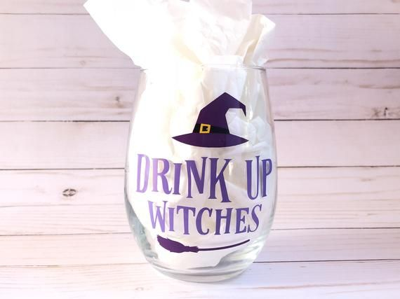 Drinking with my witches decal drinking with my witches sticker halloween decal  halloween decal for glass halloween decal for cup
