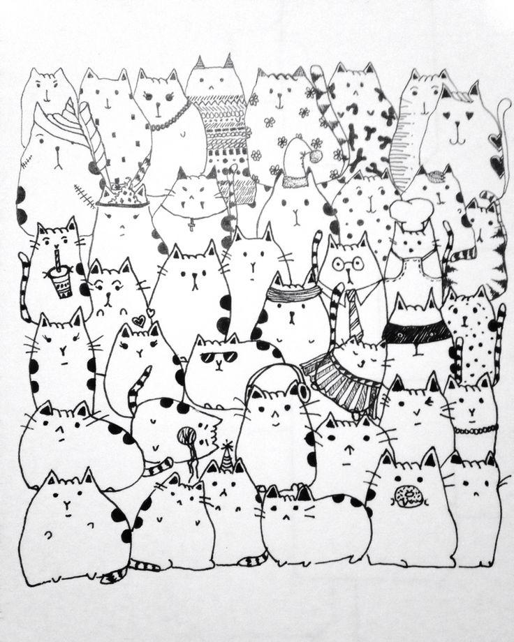 Fat cat doodle