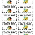 FREEBIE: This a sheet of folder labels that is used to let the students know what side is stays at home and which side is bring back to school.    I jus...