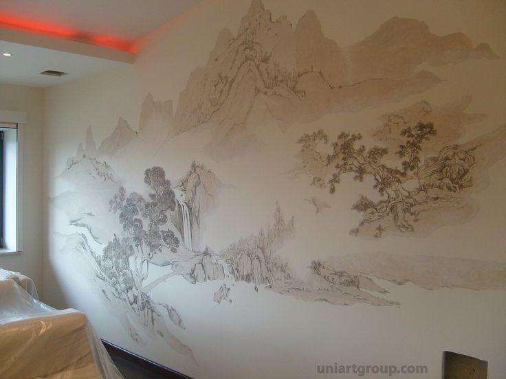 Роспись стен, художественная роспись стен, роспись в японском стиле, художественная роспись, декор стен, роспись в интерьере, роспись стен в интерьере, роспись акрилом, живопись на стене, декоративная роспись