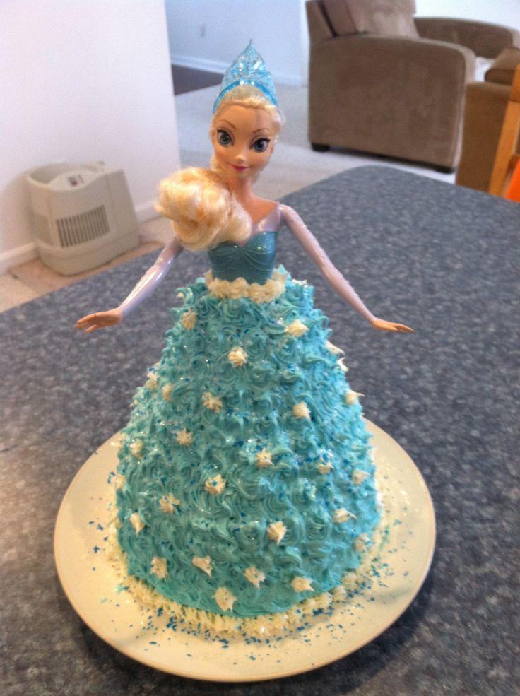 Queen Elsa Cake Design : Queen Elsa cake Yum Pinterest Elsa, Cakes and Elsa cakes