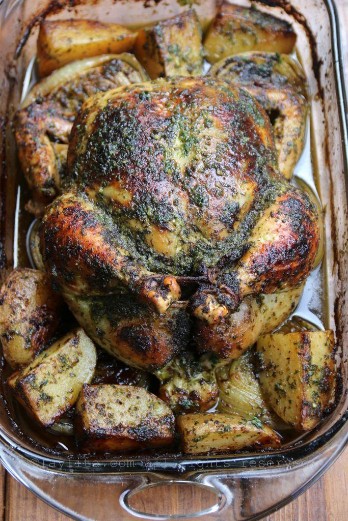 Pollo horneado con chimichurri