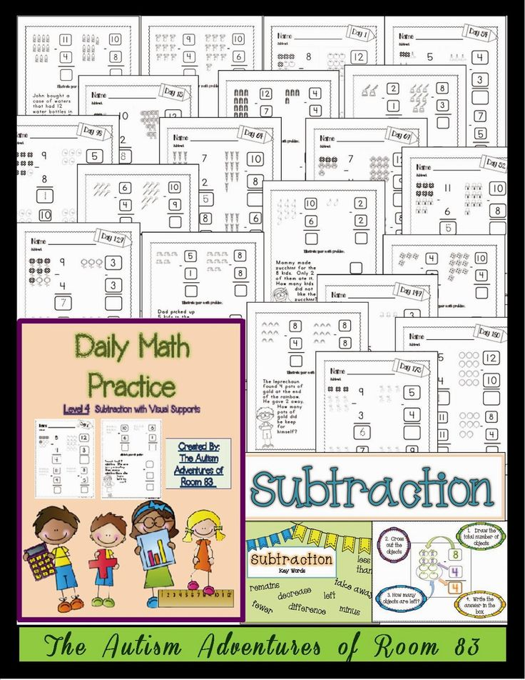 234 best Math with Special Needs images on Pinterest | Autism, Life ...