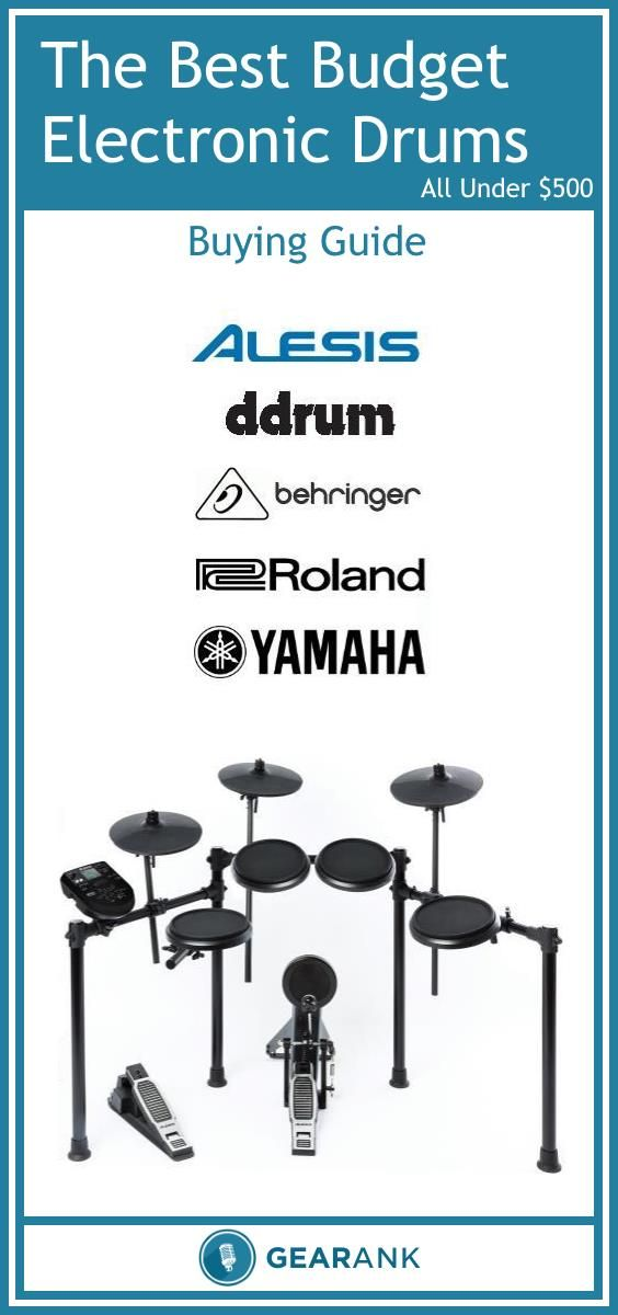 Guide to the Best Cheap Electronic Drum Sets For Beginners. As well as a list of the top rated electronic drum kits this guide also tells you what you need to know before buying one if this is your first time getting into electronic drumming.