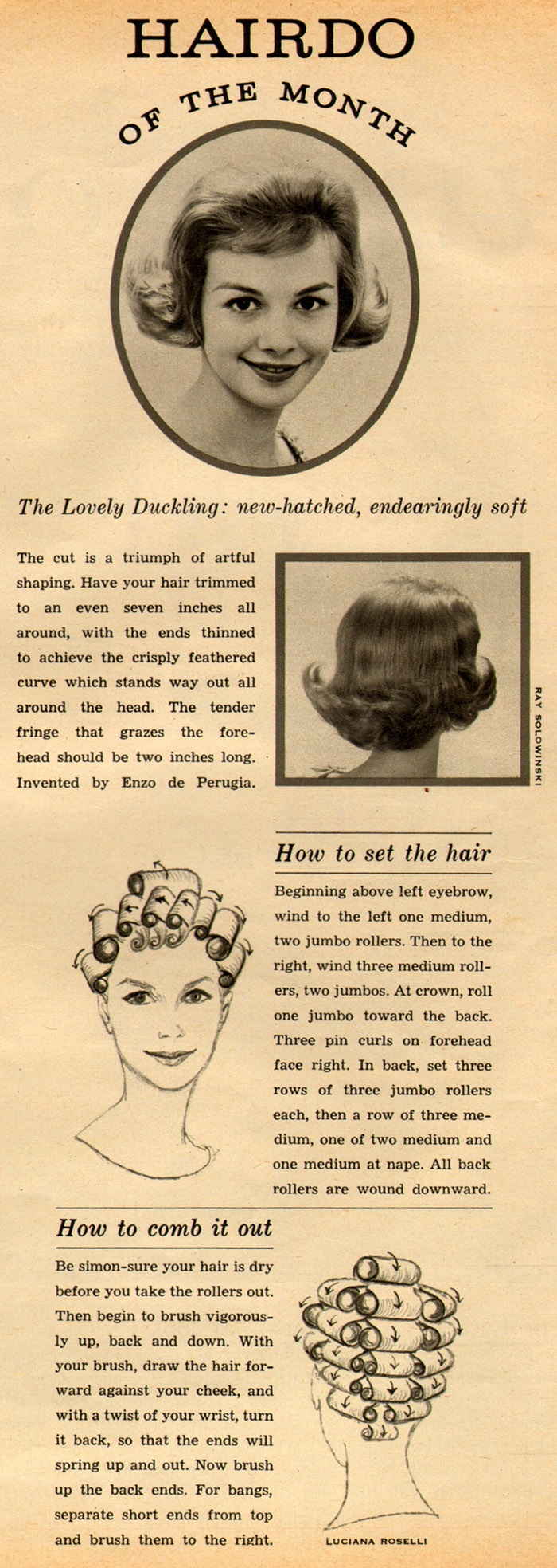 Hairdo of the Month: 'The Lovely Duckling', 1960