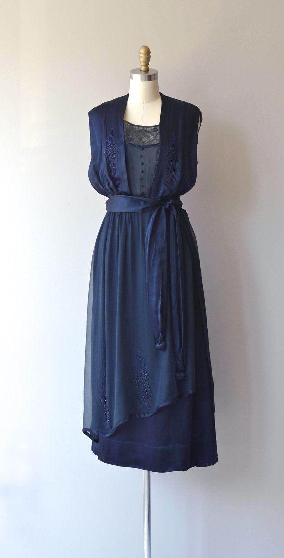 Mondotti silk and lace dress 1920s silk dress by DearGolden