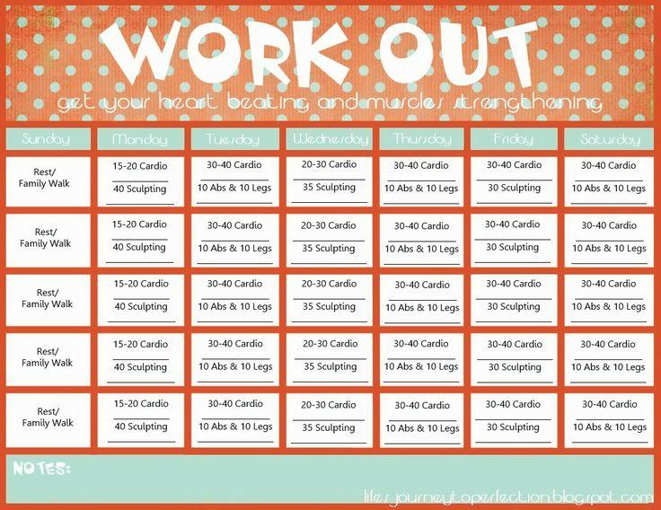 Best 10+ Workout calendar printable ideas on Pinterest | Workout ...