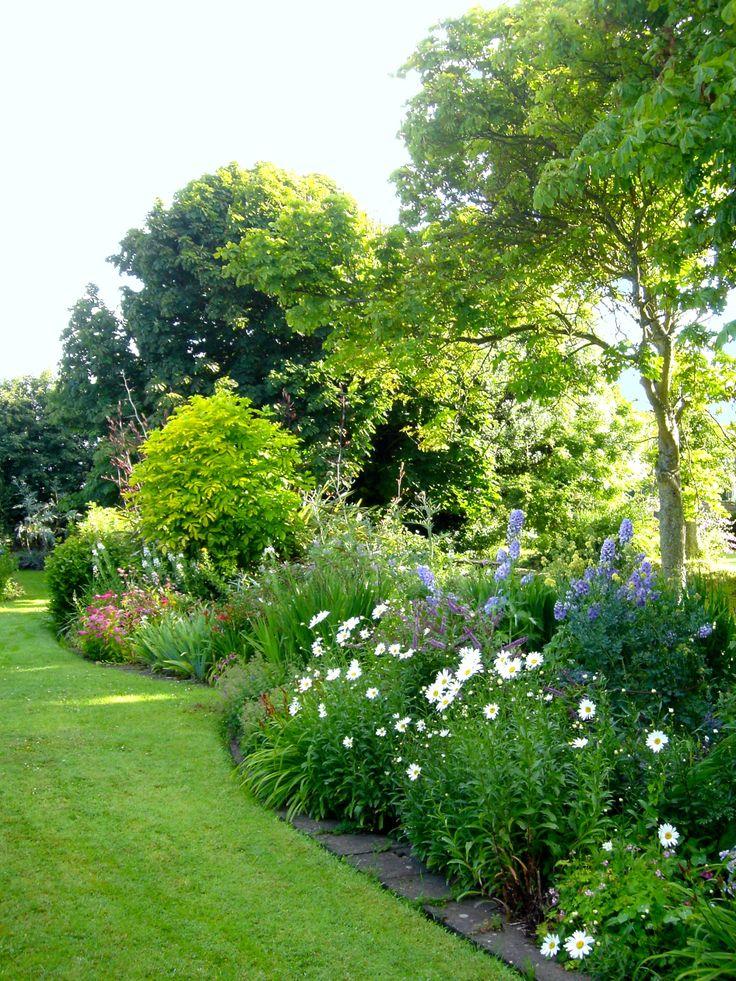 Organic flower gardens.