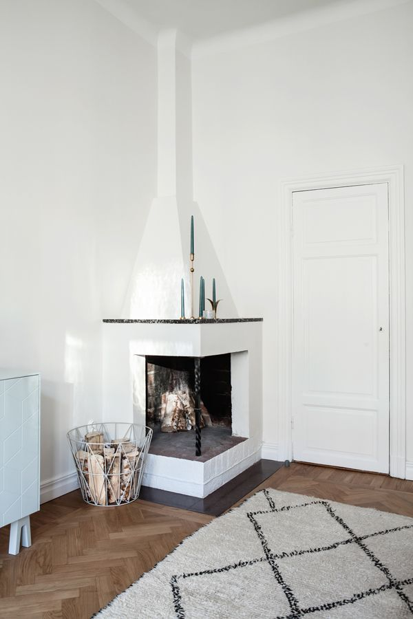 pinned by barefootstyling.com A STOCKHOLM HOME WITH A FEW TOUCHES OF RED | THE STYLE FILES