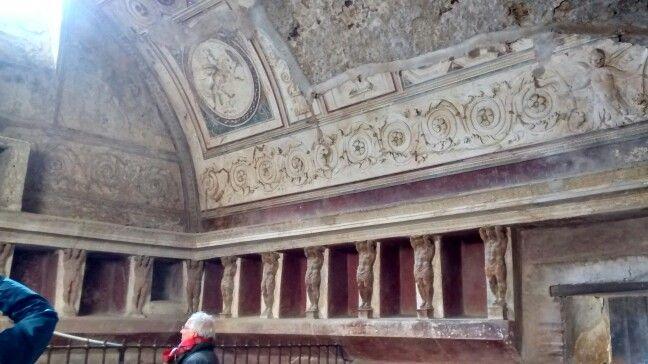 Teto da terme del foro/  Pompei Scavi - IT 01/2016