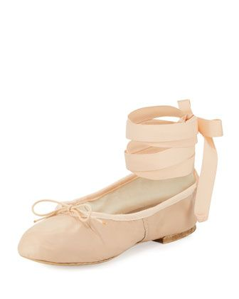 Street Ballerina Ankle-Wrap Flat, Pink by Ballet Beautiful at Bergdorf  Goodman.