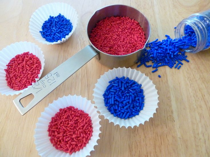 I love cookies made from cake batter mixes! They are easy and always super delicious. And these ones would be PERFECT for the 4th of July! Firecracker Cookies Cake batter cookies taste like a cross between wedding cake and sugar