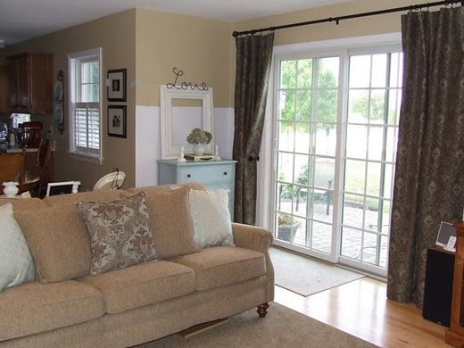 Curtains For Sliding Glass Door Home Style Pinterest