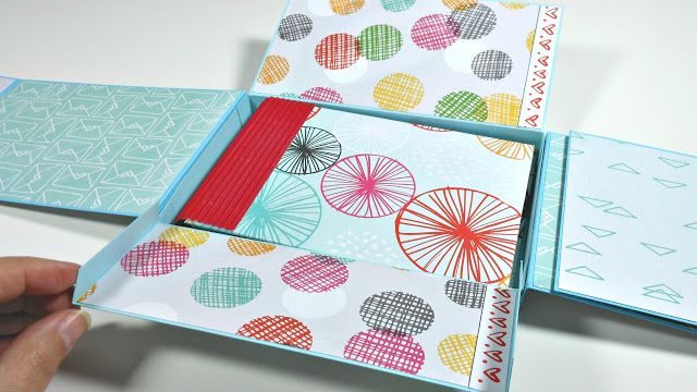 Álbum caja de cartulina facil con mini álbum de sobres