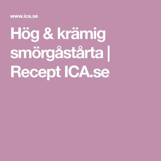 Hög & krämig smörgåstårta   Recept ICA.se