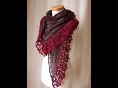 Bufandas de dama modernas tejidas a crochet - YouTube