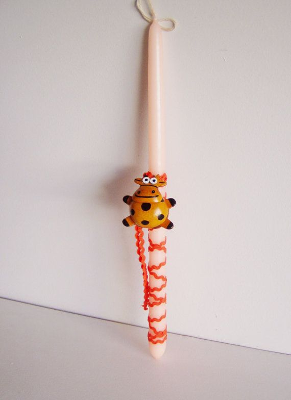 Cow Easter candle funny Greek Easter candle by ArktosCollectibles
