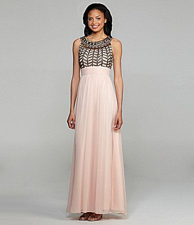 JS Collections Beaded Gown #Dillards