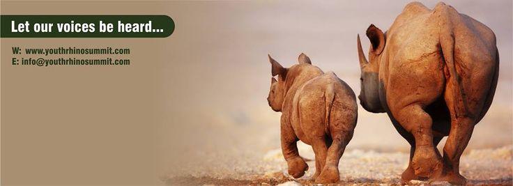 Connect with us! #rhino #wildlife #nature #RhinoSummit2014