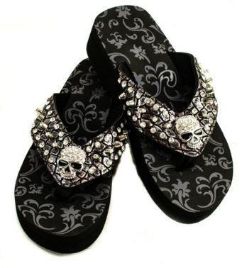 Skull Metallic Sandals - FTGS