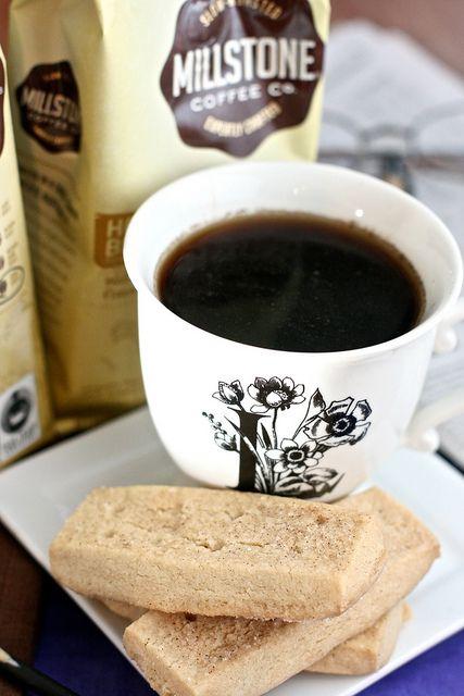 Maple Cinnamon Shortbread with Millstone Coffee
