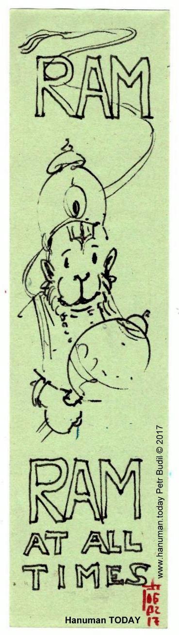 Monday, February 6, 2017  Daily drawings of Hanuman / Hanuman TODAY / Connecting with Hanuman through art / Artwork by Petr Budil [Pritam] www.hanuman.today #bajrangbali #hanuman #artworkoftheday #arteveryday #Chalisa  #hanumanchalisa #bhakti #ramayana #art  #yoga #jaihanuman #rama #sita #janaki #lakshman #DailyDevotional #anjaneya #spiritual @www.hanuman.today