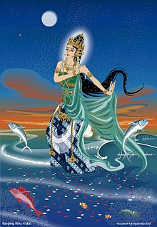 Nyai Loro Kidul (also spelled Nyi Roro Kidul) is a legendary Indonesian female spirit or deity, known as the Queen of the Southern Sea of Java (Indian Ocean or Samudra Kidul south of Java island) in Javanese and Sundanese mythology.