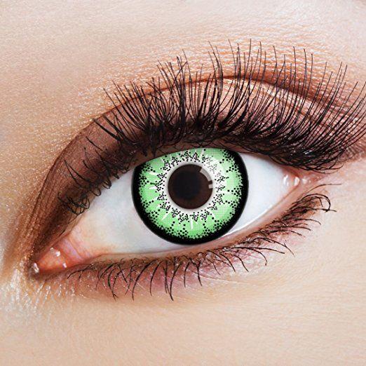aricona Farblinsen  Natürliche farbige Kontaktlinse Green Passion   - Jahreslinsen für helle Augenfarben, ohne Stärke, Farblinsen als Modeaccessoire für den täglichen Gebrauch