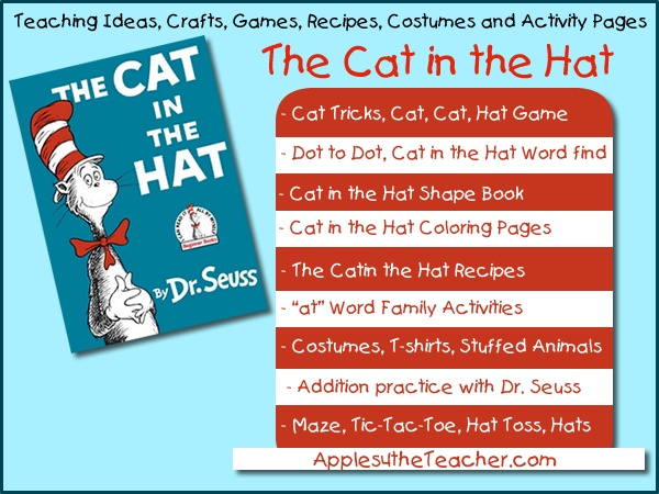 Cat in the hat teaching ideas activity sheets lesson - Game design lesson plans for teachers ...
