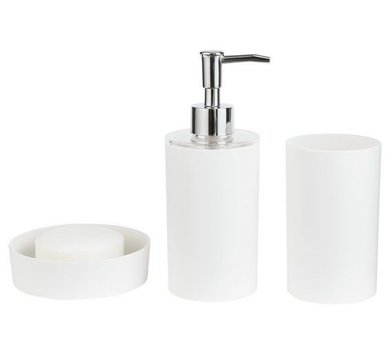 buy colourmatch bathroom accessory set flint grey at argoscouk visit - Grey Bathroom Accessories Uk