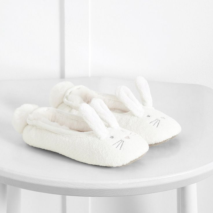 Fluffy Bunny Slippers | The White Company