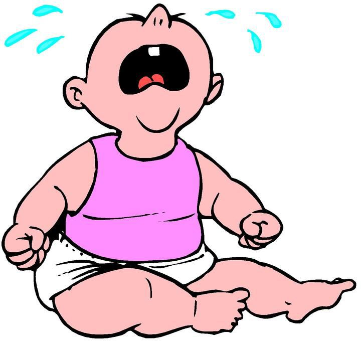 Animated Laughing Clipart Cliparts Co Baby Crying Baby Cartoon No Crying In Baseball
