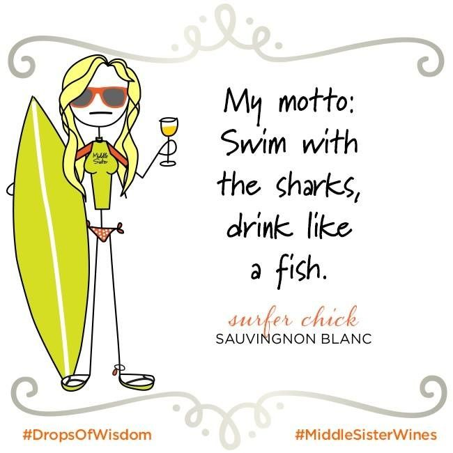 We'll skip the shark bit...   Bring Middle Sister wines to your next seaside adventure: