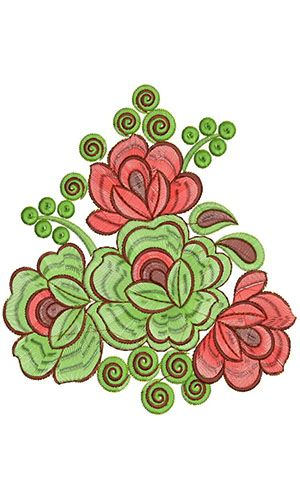 7.48 x 7.08 inch Applique Embroidery Design