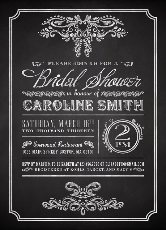 23 Best Chalkboard Invitations Images On Pinterest | Rehearsal