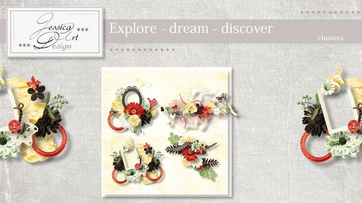 Explore - dream - discover clusters by Jessica art-design