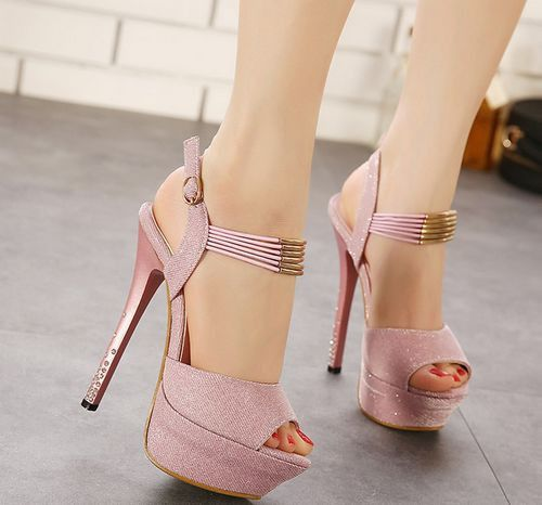 Women Trendy Shoes, features buckle strap with cross fashion decoration design, soft PU leather, peep toe with high heels,these shoes match variours womenstyle