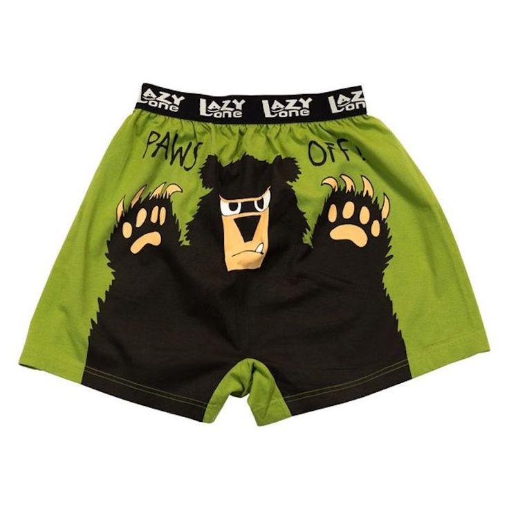 Atentie, Maini Jucause Ursul Are - Boxeri Barbati
