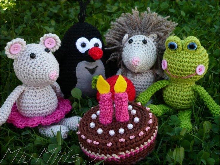 Crochet little mole and his frends :)