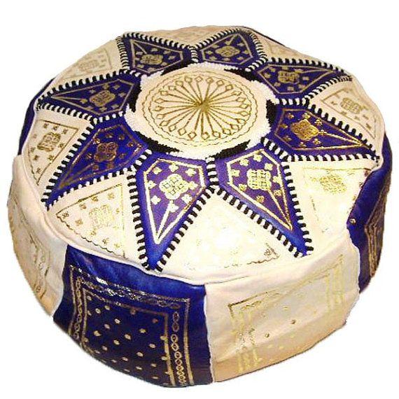 pouf en cuir marocainpouf marocain en cuir par JakaniCuir sur Etsy