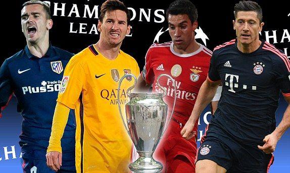 Atletico Madrid vs Barcelona UEFA Champions League LIVE scores: plus Bayern Munich vs Benfica | Daily Mail Online