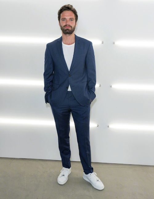 "sebastiansource: ""Sebastian Stan attends the HUGO BOSS Menswear SS18 Runway Show in New York City on July 11th 2017 """